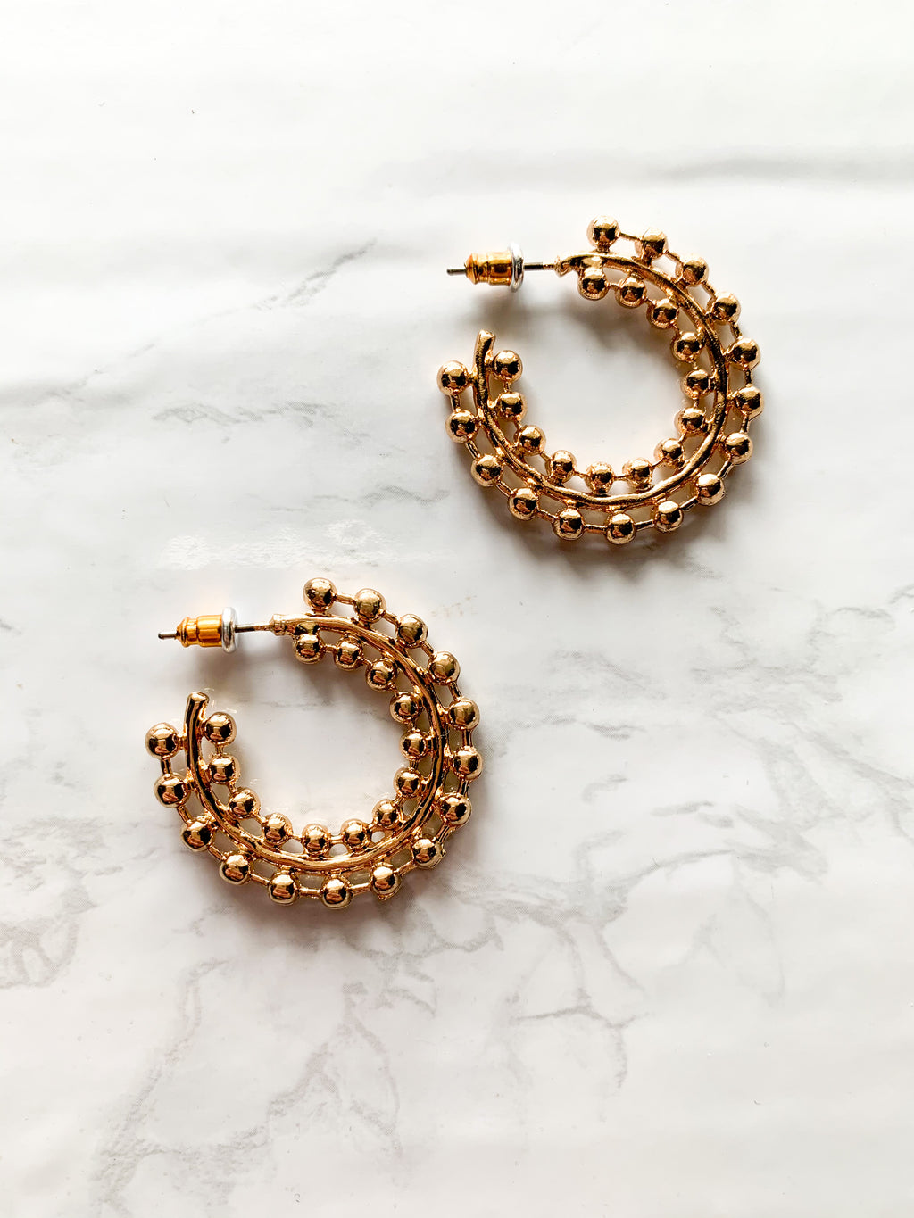 Metallic Hoop Earrings
