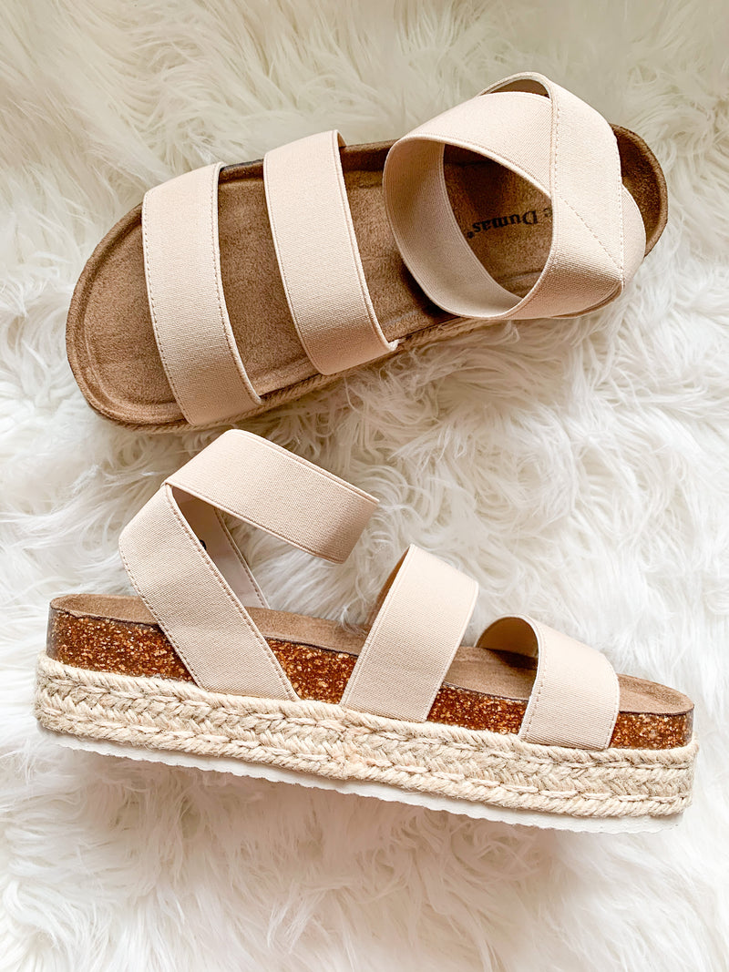 Nude Strappy Flatforms