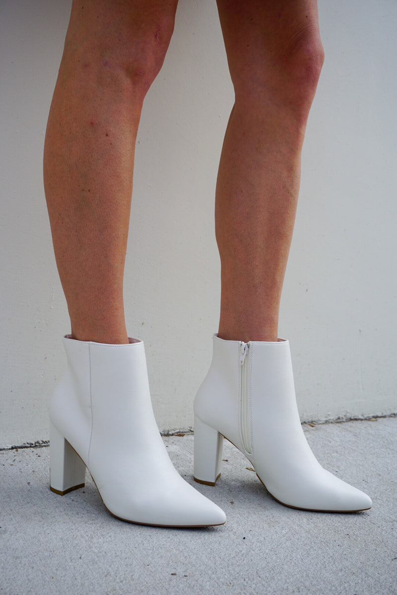 Stand Out White Booties