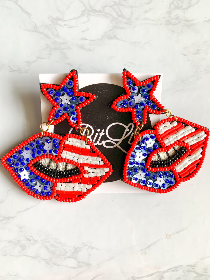 Red, White, and Babe Earrings