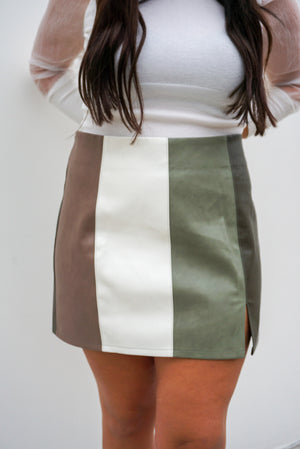 Boss Babe Faux Leather Skirt