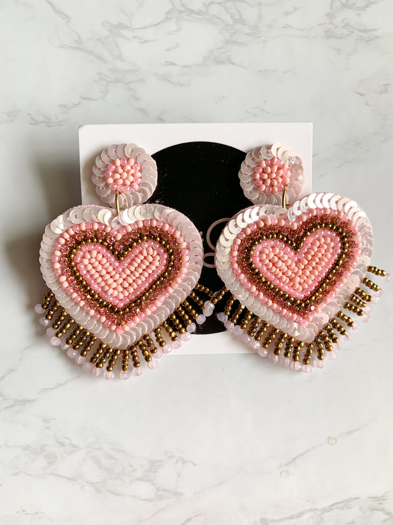 Shot Through The Heart Earrings