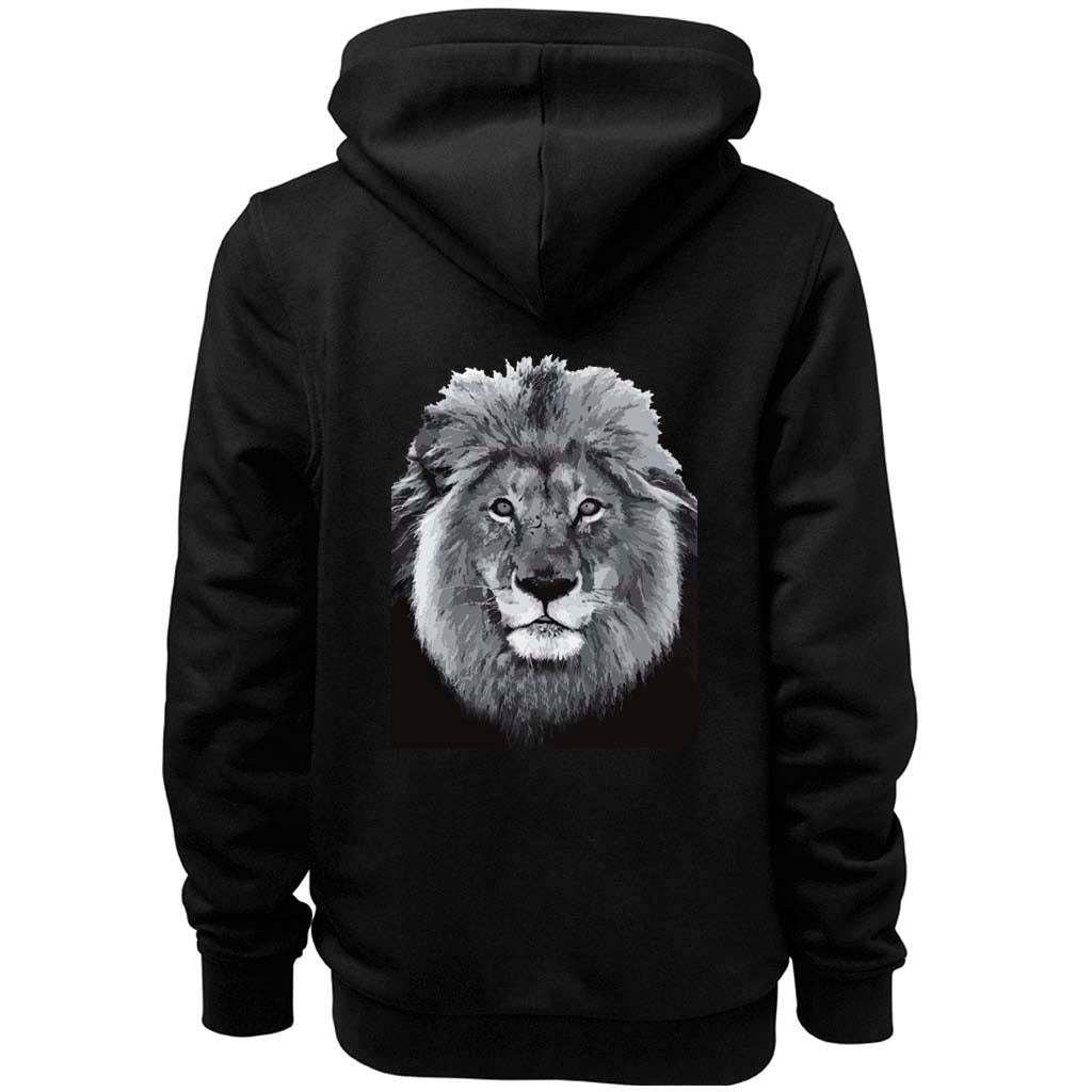 Men's Lion Face Zip Hoodie