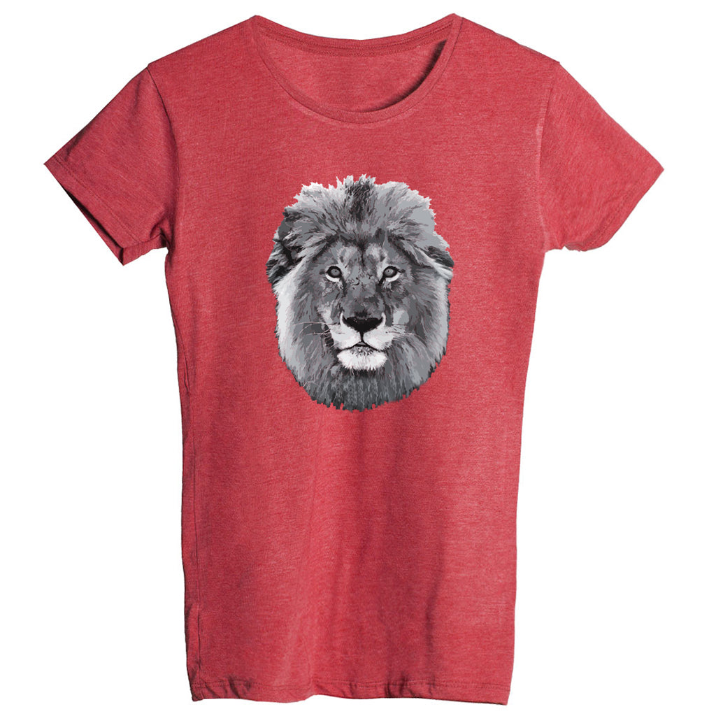 Women's Lion Face Fitted T-Shirt