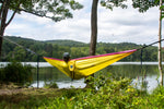 Two Person Travel Hammock | Sunshine Yellow & Pink