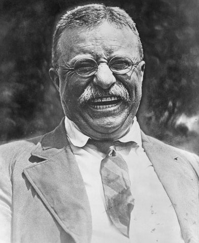 Theodore Roosevelt laughing