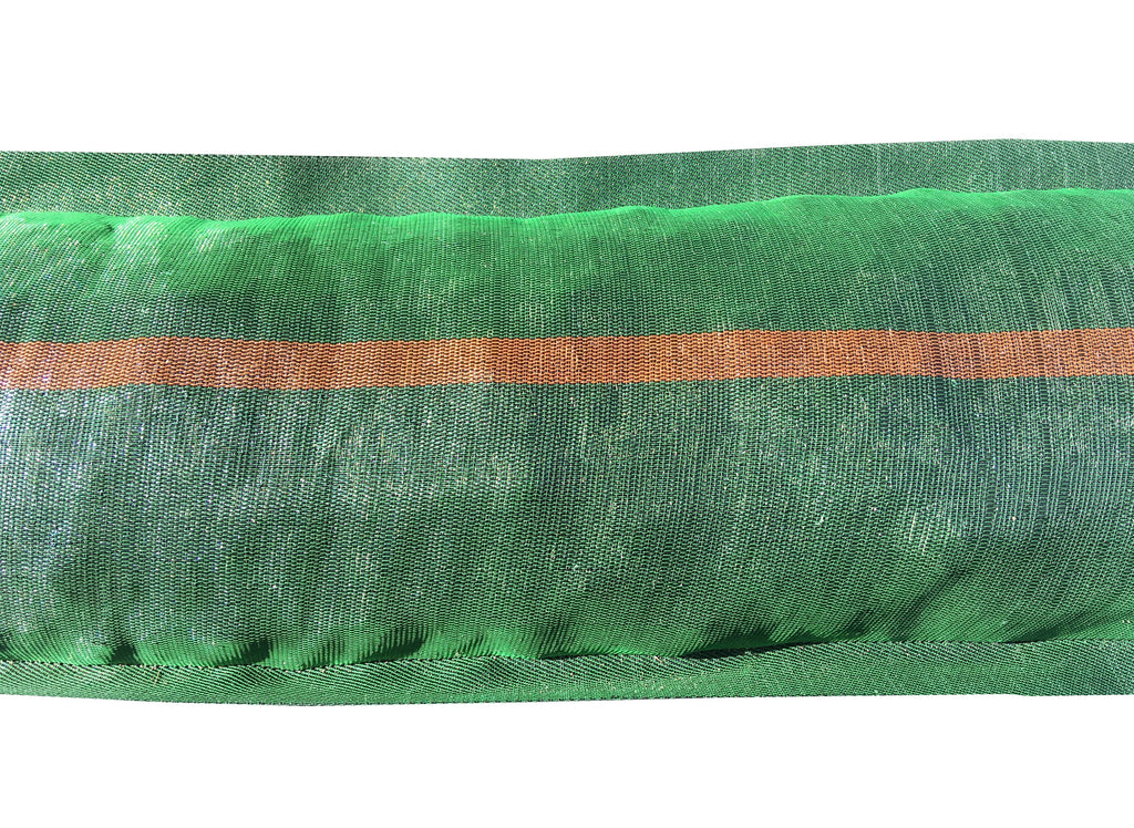 11x48 Monofilament, Long-Lasting Tube Sandbags: filled and close up look