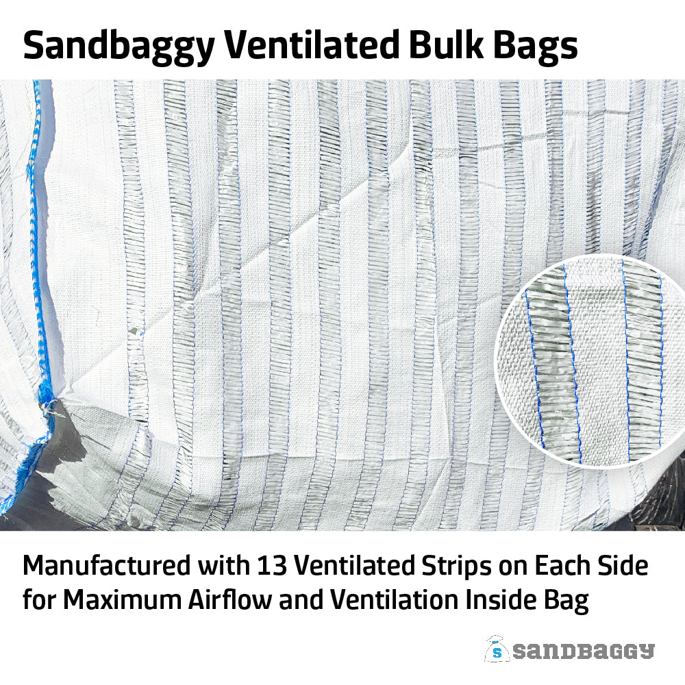 Ventilated Bulk Bags - For Storing Food, Produce & Firewood