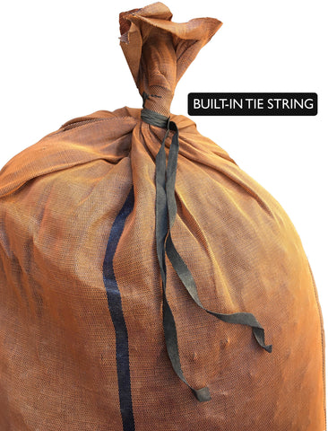 17x27 monofilament, long-lasting sandbags have a built-in tie string