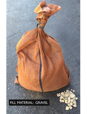 17x27 monofilament, long-lasting sandbags are designed to be filled with gravel