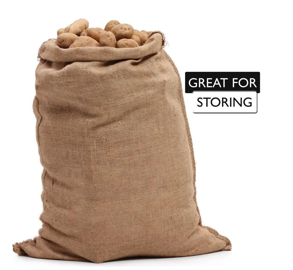 22x36 burlap bags are great for storing potatoes