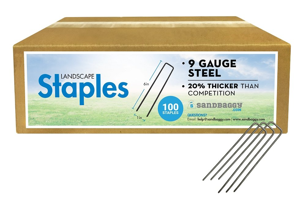 6-inch 9-GAUGE staples dimensions: 6 inches long x 1 inch wide