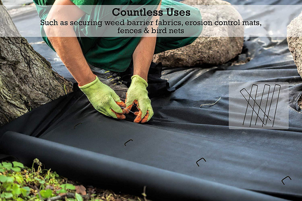 Countless Uses: such as securing weed barrier fabrics, erosion control mats, fences and bird nets