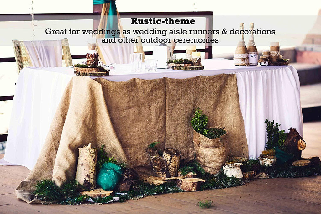 Rustic theme: Great for weddings as wedding aisle runners and decorations and for other outdoor ceremonies