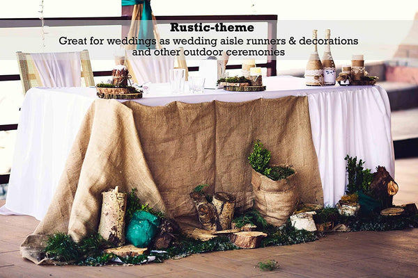 Burlap fabric rolls are great for weddings and other outdoor ceremonies as wedding aisle runners and decorations