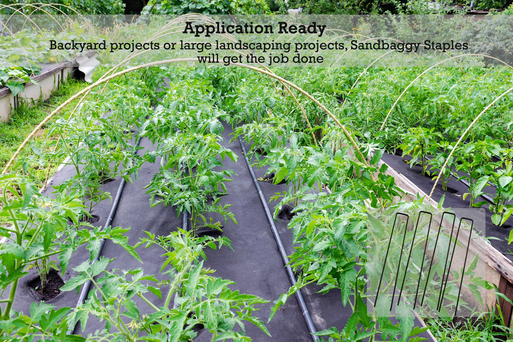 Application Ready: Backyard projects or large landscaping projects, Sandbaggy staples will get the job done