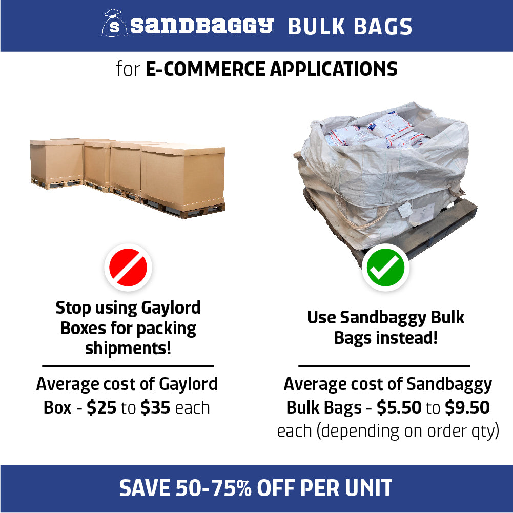 Bulk bags are cheaper than gaylord boxes