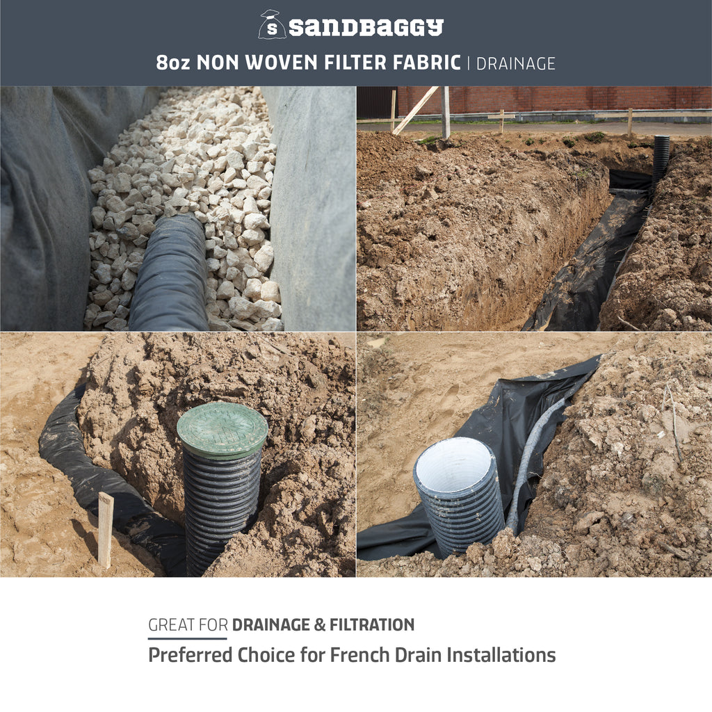non-woven filter fabric - great for drainage & filtration & french drain installations