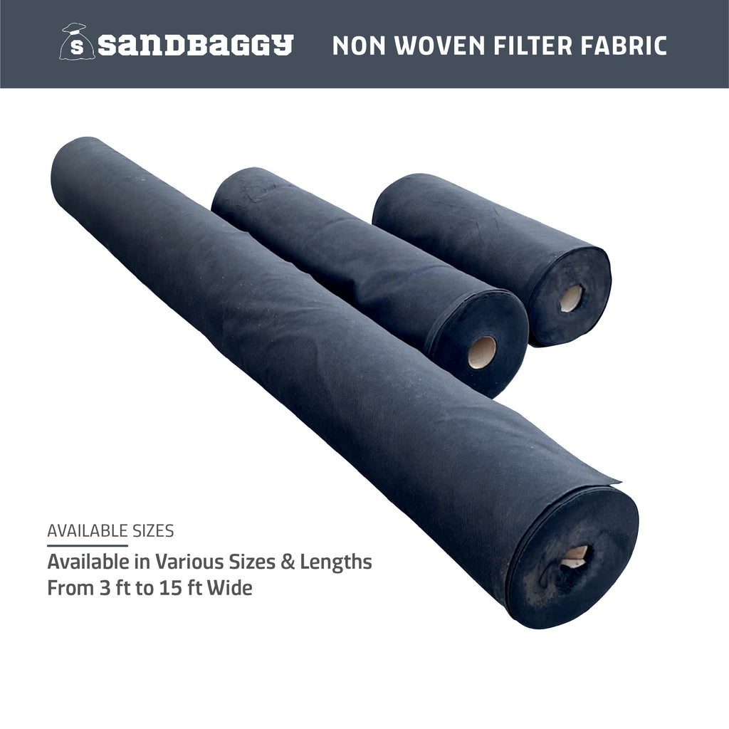 different sizes non woven filter fabric available from Sandbaggy