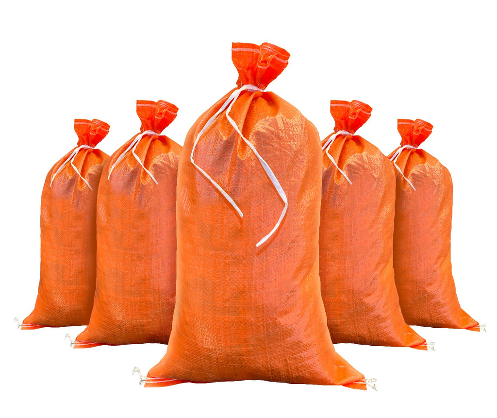 Orange Color 14x26 Empty Woven Polypropylene Sandbag