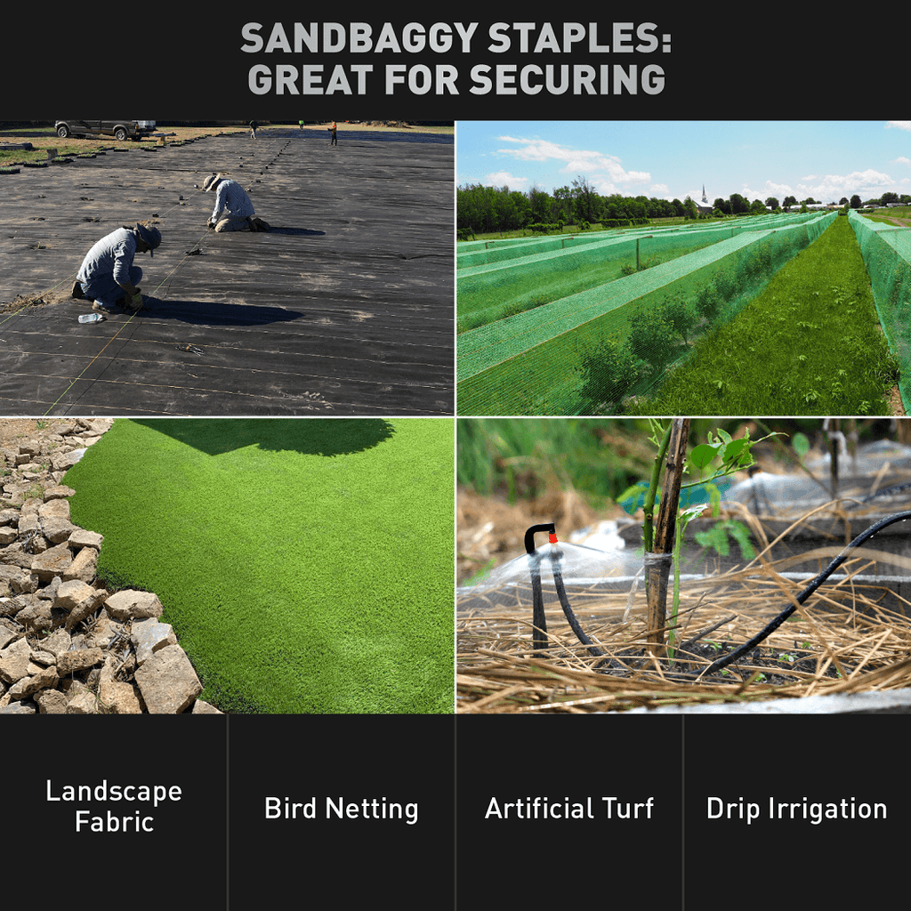 6-inch Standard Landscape Fabric Garden Staples (Trusted by Farmers and Contractors Across USA)