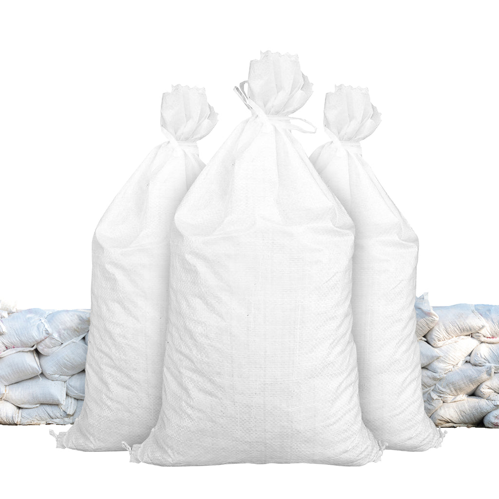 White Color 14x26 Empty Woven Polypropylene Sandbag