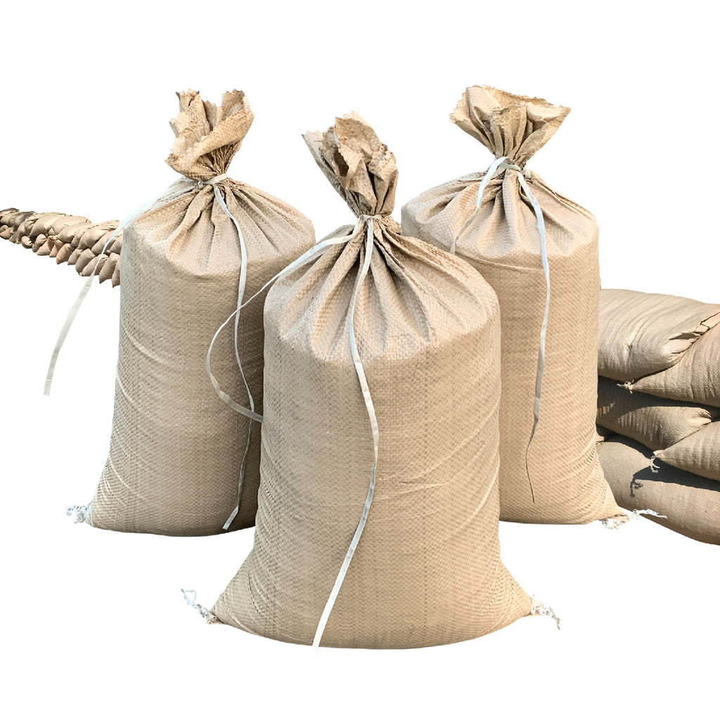 Beige Color 14x26 Empty Woven Polypropylene Sandbag