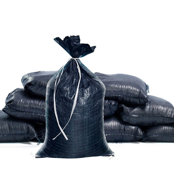 Ultra Heavy Duty Black Sandbags [4K hours UV protection] - Can Be Dropped 40X