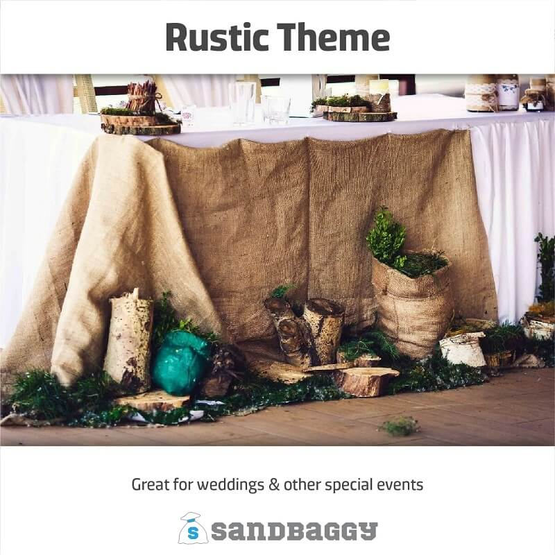 Burlap Squares - 80-inch x 80-inch (For Landscaping, Decor)