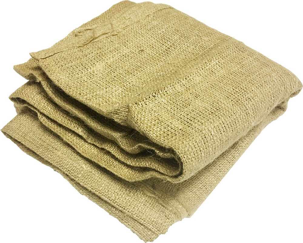 "Burlap square 80"" x 80"" folded"