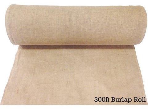 "Burlap Fabric Roll - 40"" Wide x 100 Yards Long"