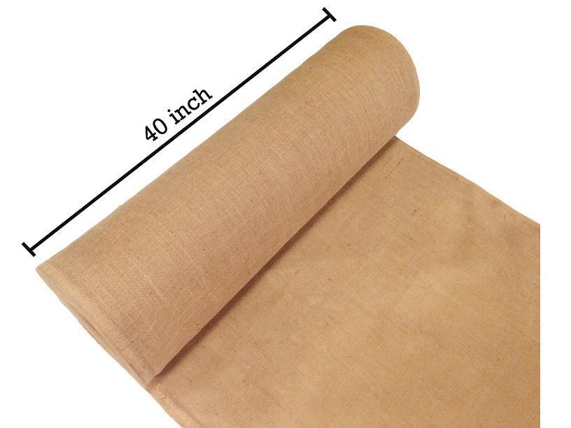 Burlap Fabric Roll - 40 in wide x 100 yards long - Great for Rustic Weddings & Decorating Tables