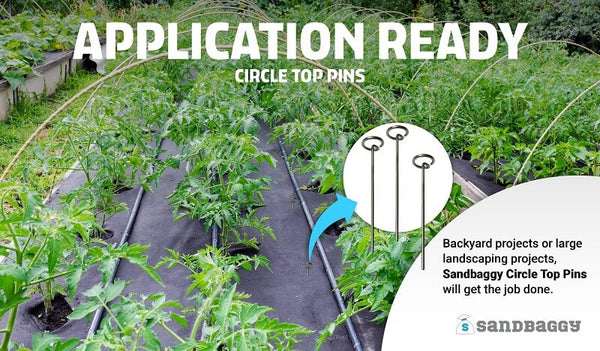 Application Ready: Whether for backyard projects or large landscaping projects, Sandbaggy circle top pins will get the job done