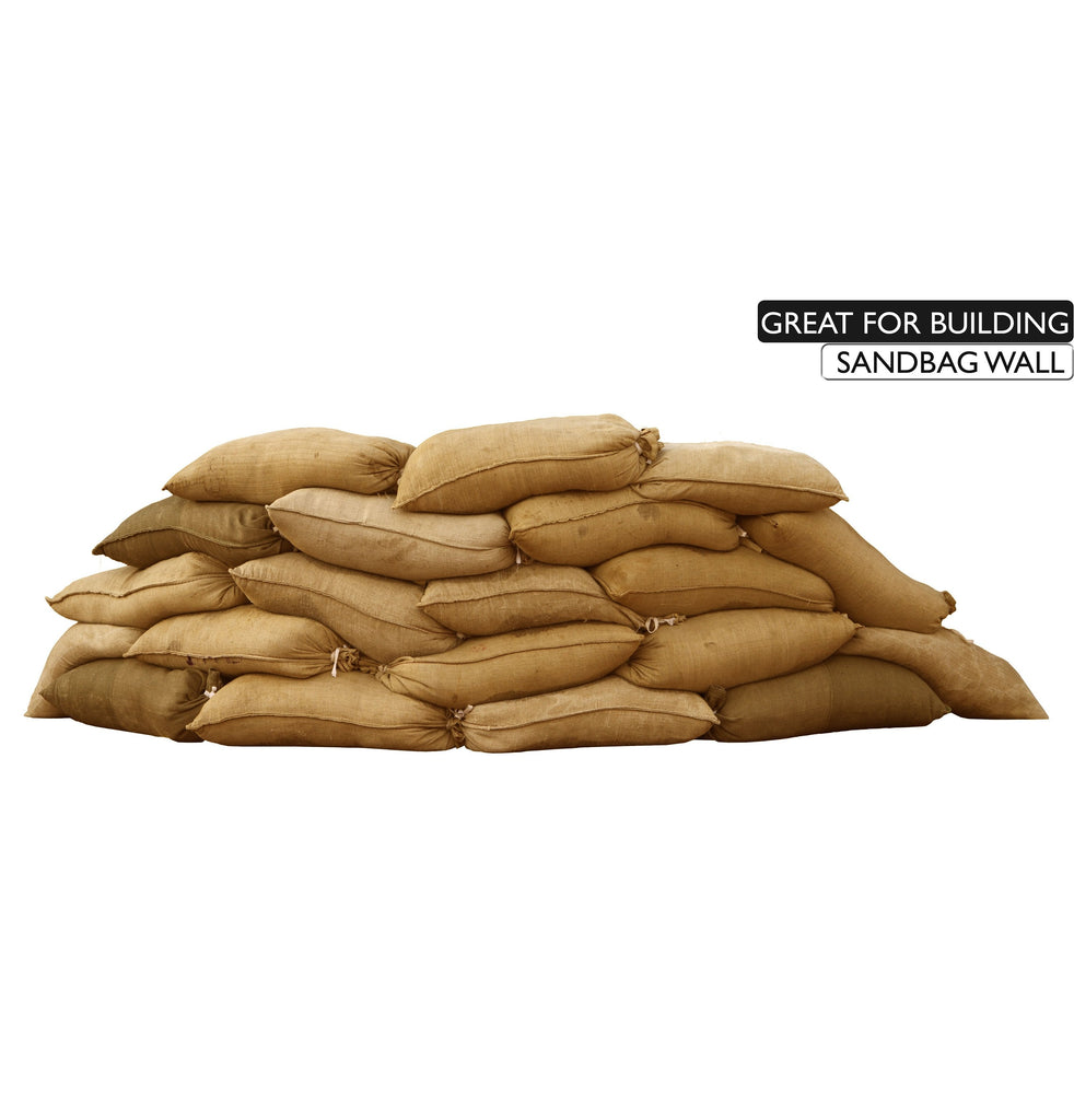 14x26 burlap bags are great for building sandbag walls