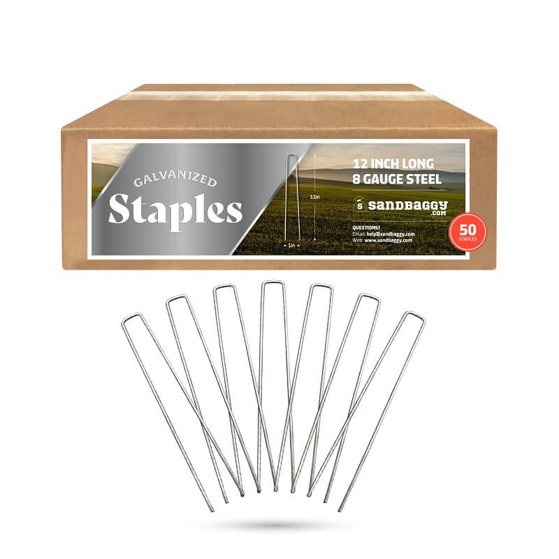 Heavy Duty Landscape Staples (12-inch Length, 37% Thicker)