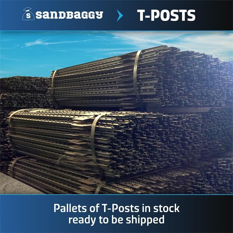 Pallets of T-Posts in stock ready to be shipped