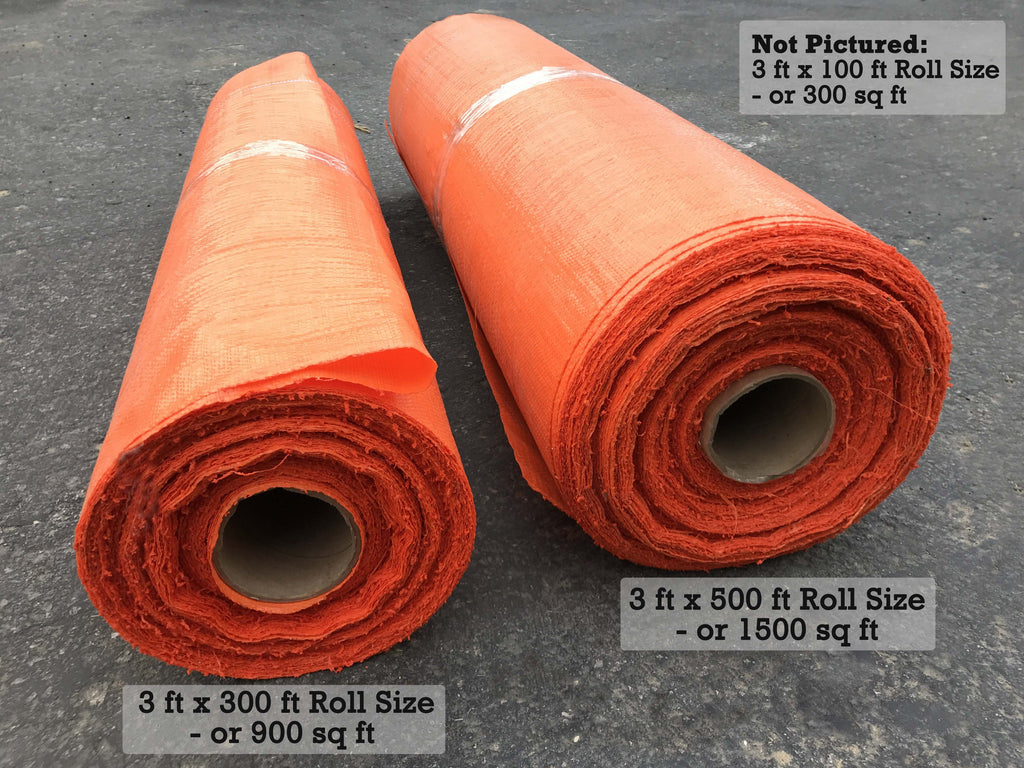 Orange Color Ground Cover Weed Barrier - Heavy Duty Weed Blocker Fabric (3 ft wide Roll)