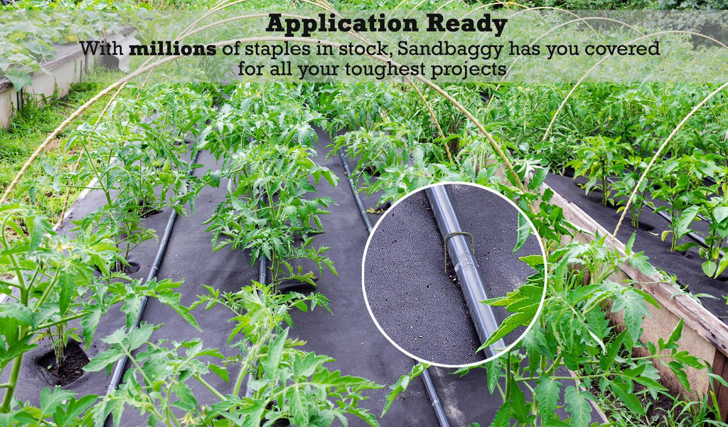 Application ready: With millions of staples in stock, Sandbaggy has you covered for all your toughest projects.