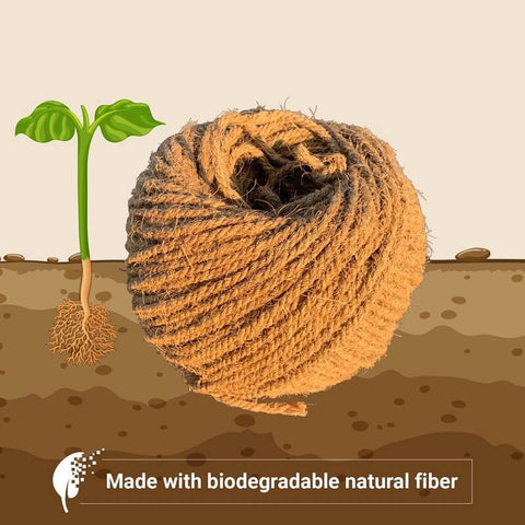 Sisal rope: made with biodegradable natural fiber