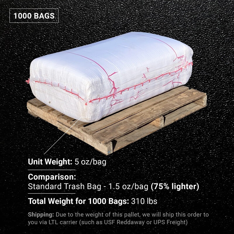 6 Mil Contractor Trash Bags [50-100 lbs Capacity] - Size: 31-inch x 45-inch