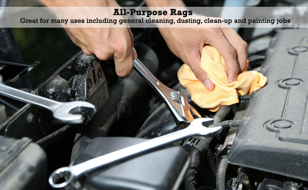 All-purpose rags: great for many uses including general cleaning, dusting, clean-up, and painting jobs