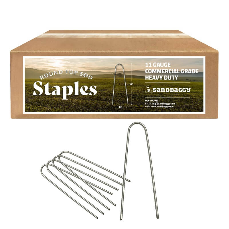 6-inch round top staples