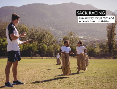 22x36 burlap bags can be used for sack racing, which is a fun activity for parties and school/church activities