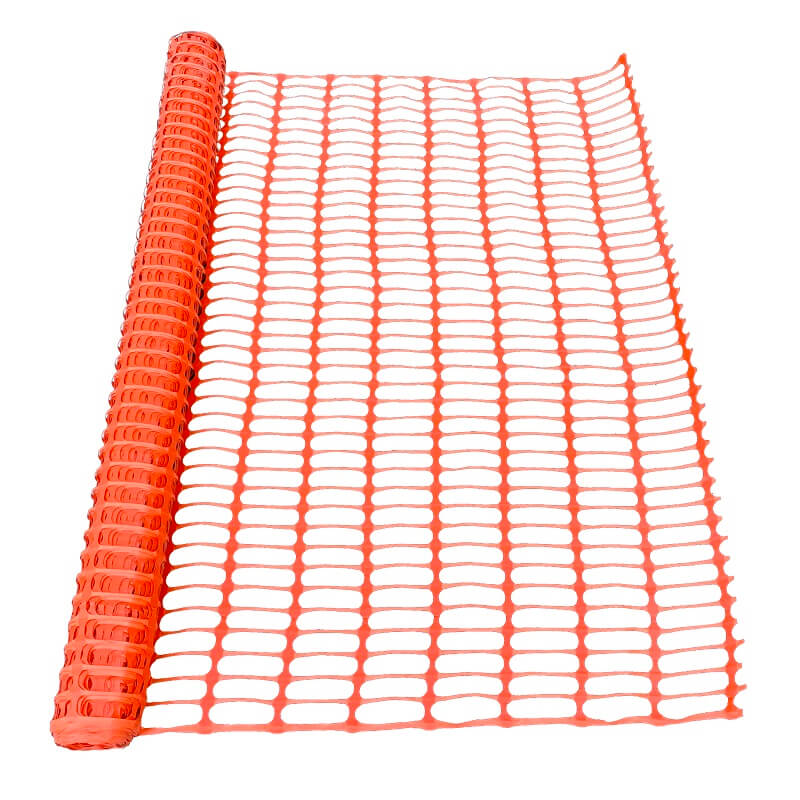 Snow Fence - Orange Safety Fence - 4 feet wide x 100 feet long - 150 lbs Tensile Strength