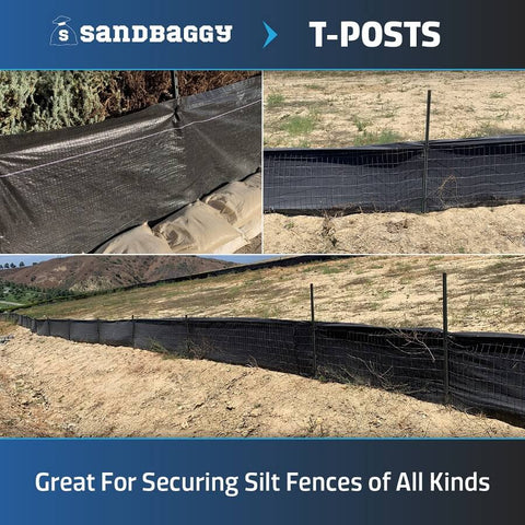 T-Posts: Great for securing silt fences of all kinds