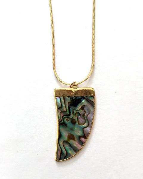 ABALONE TUSK NECKLACE