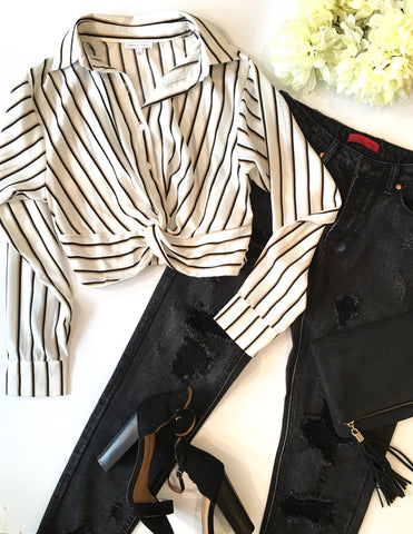 EARN YOUR STRIPES BLOUSE