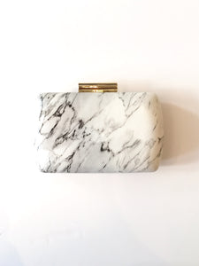 GRECIAN MARBLE BOX CLUTCH
