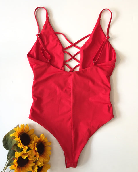 BAHAMAS ONE PIECE - CHERRY