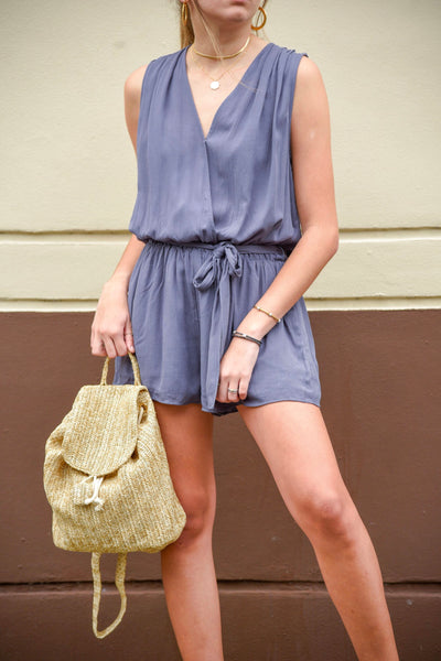 TEQUILA SUNRISE ROMPER - BLUE